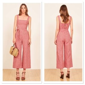 💫 Reformation May Check Birch Jumpsuit Sz 12